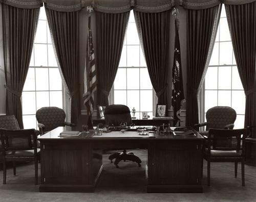 Truman's desk at the Truman Library