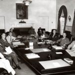 Truman meets with National Security Council, 1948