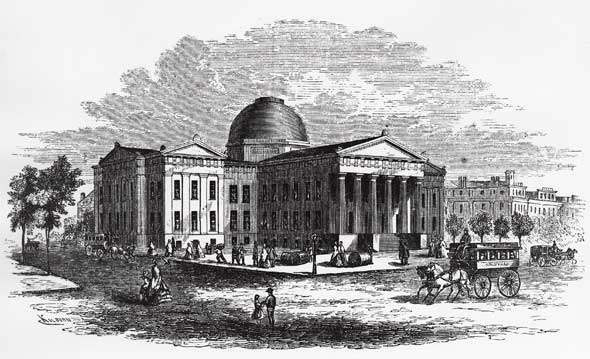 The St. Louis County Courthouse, ca 1856
