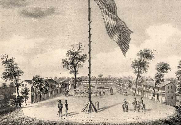 Jefferson Barracks, around 1841