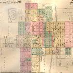 Map of Lamar, Missouri, 1886