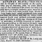 newspaper ad about a runaway slave
