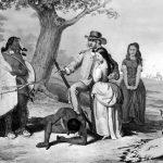 Daniel Boone rescuing his daughter Jemima.