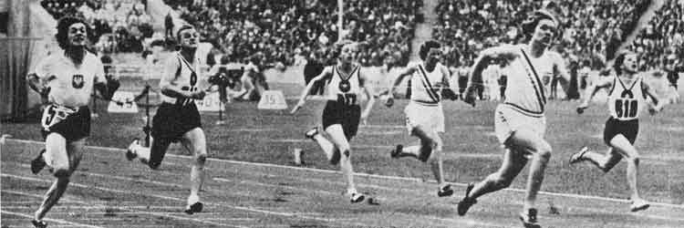 Stephens running at the Olympics