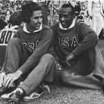 Stephens with Olympic teammate Jesse Owens, 1936.