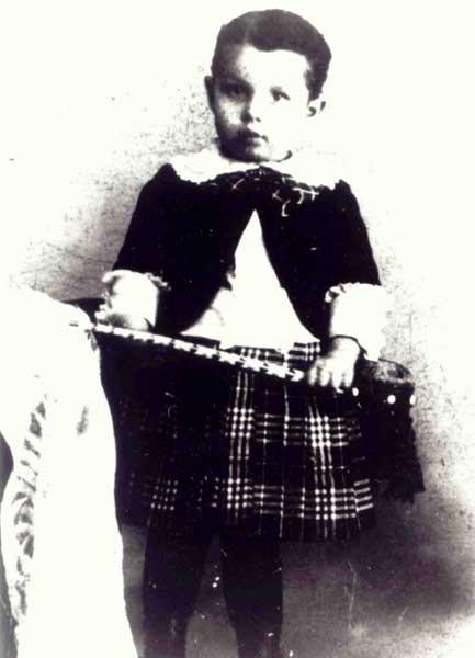 Photograph of Thomas Hart Benton as a young boy.