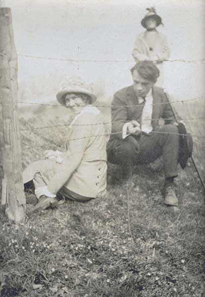 Photograph of Benton helps Mary Steadley.