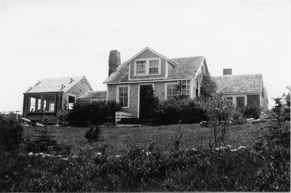 Photograph of Benton's home in Martha's Vineyard.