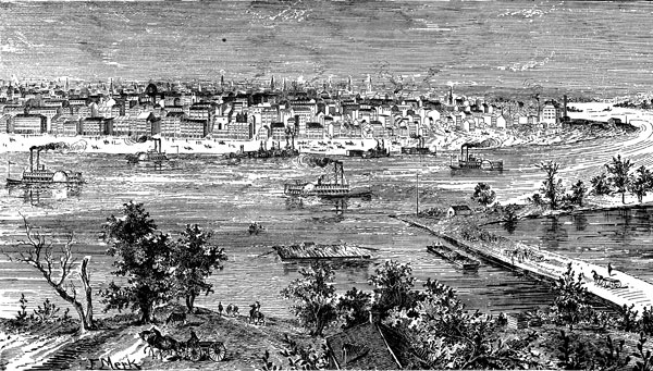 St. Louis riverfront engraving