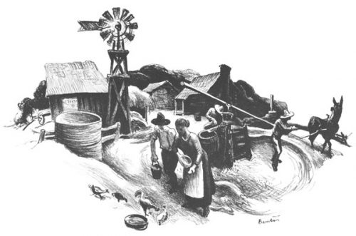 Missouri Farmyard, 1936, by Thomas Hart Benton.