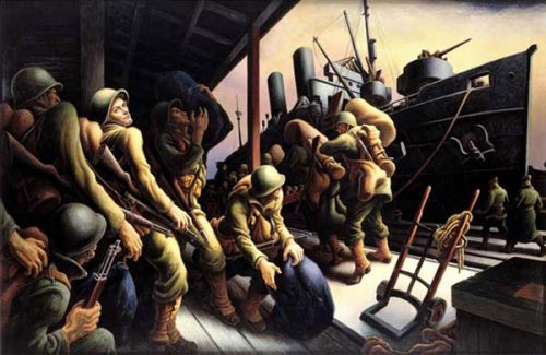 Benton painted many images about the war.