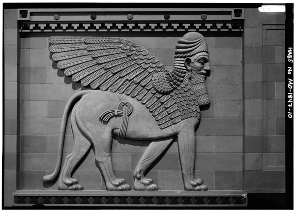winged lion at the Missouri Theater