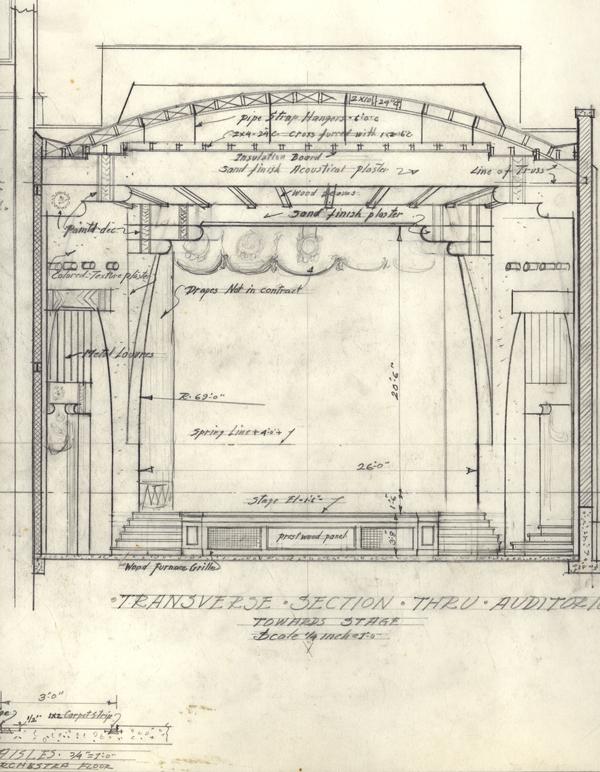 Main Theatre in Pueblo, CO drawing detail