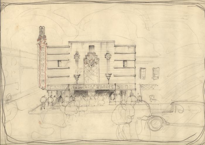 Orpheum Theatre sketch
