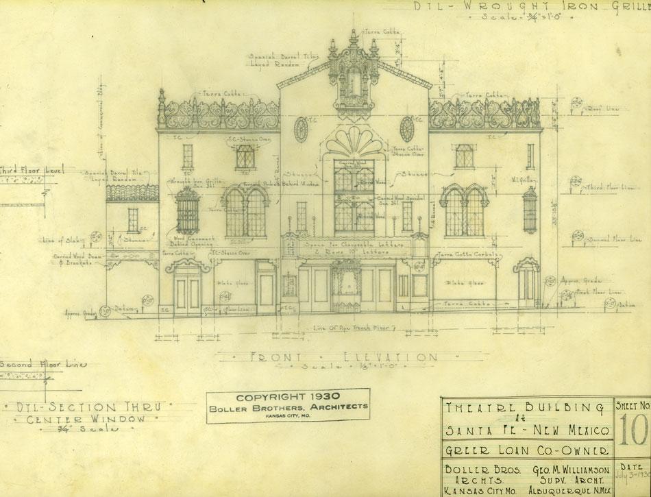 Santa Fe theatre drawing