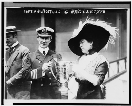 Captain A.H. Rostron and Margaret Tobin Brown.