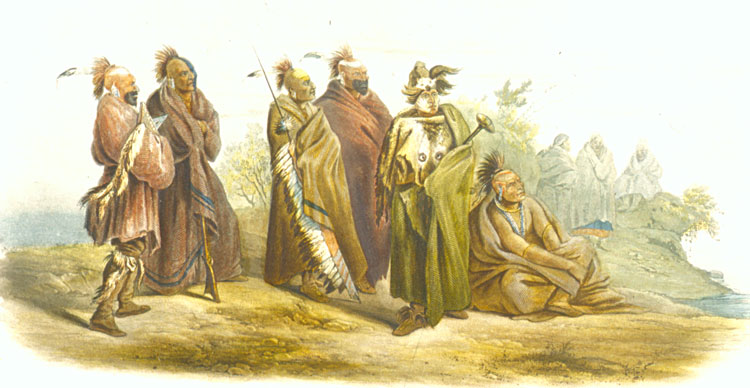 Sac and Fox Indians in St. Louis, 1833.