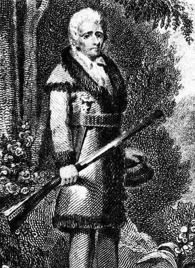 Daniel Boone engraving.
