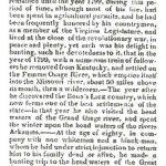 Obituary for Daniel Boone.
