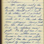 Page from Stephens's Olympic diary, August 3 1936