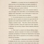 Executive Order 9981, July 26, 1948 (p. 1).