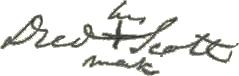 Dred Scott signature