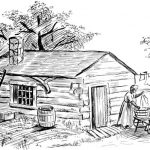 Drawing of a cabin