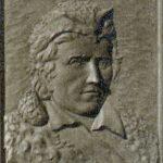 Boone gravesite marker, detail