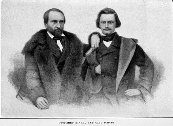 Johann Gottfried Kinkel and Carl Schurz