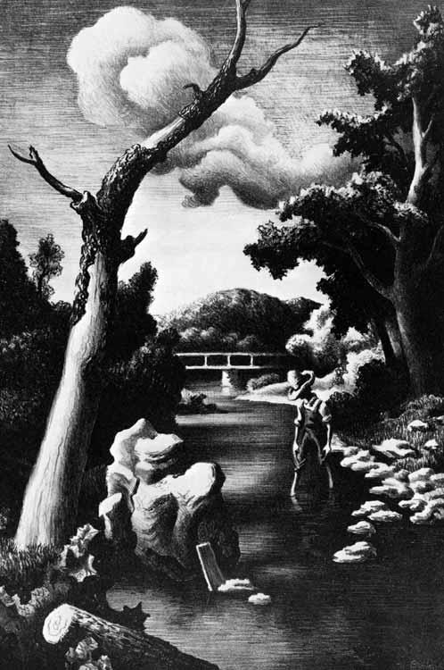 Shallow Creek, 1939, by Thomas Hart Benton.