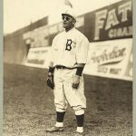 Casey Stengel playing outfield for the Brooklyn Dodgers, c. 1915.