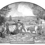 Mural depicting early lead mining