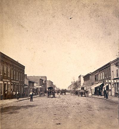 Booneville, MO main street circa 1879