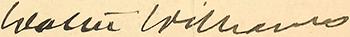 Walter Williams signature