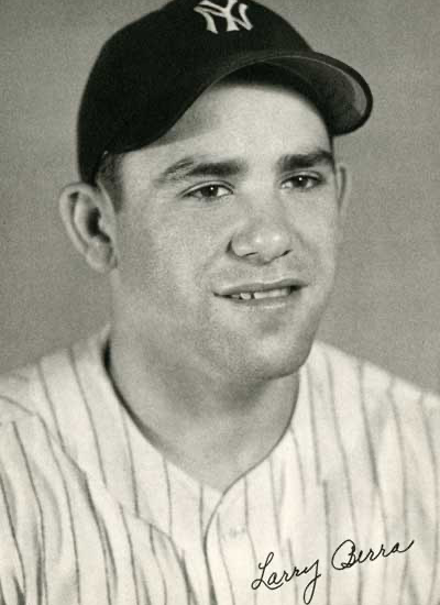 Yogi Berra portrait.