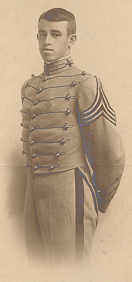 Bradley as a West Point cadet