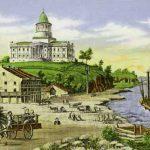 Missouri State Capitol in Jefferson City, around 1848