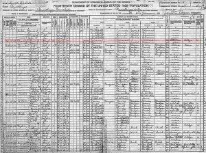 1920 Federal Census