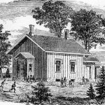 early frontier schoolhouse