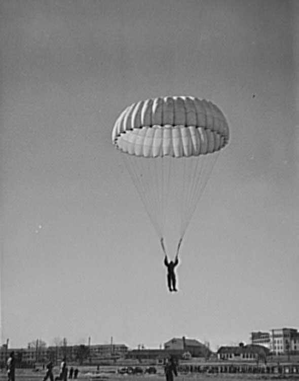 Parachute training at Fort Benning.