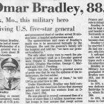 Bradley's obituary