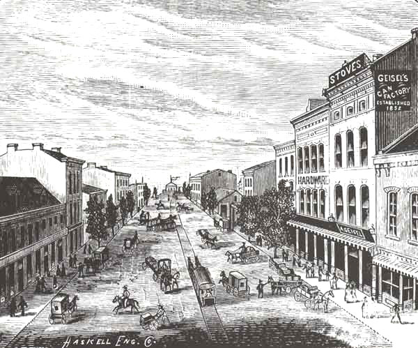 Carondelet Avenue, circa 1881.
