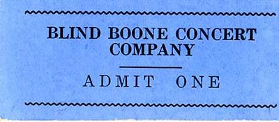 Blind Boone ticket