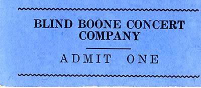 Blind Boone ticket