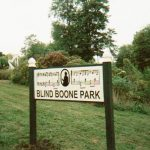 Blind Boone Park sign