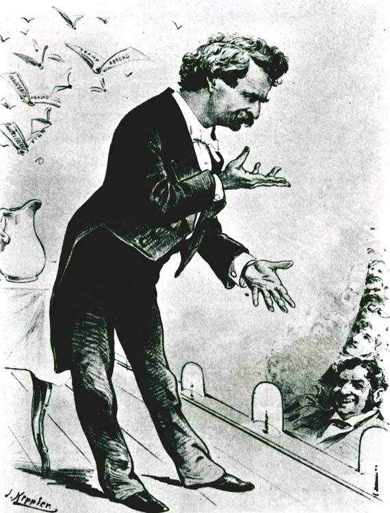 Mark Twain cartoon