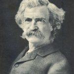 Mark Twain, bust view, around 1900