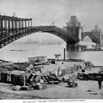 Eads Bridge under construction
