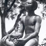 Statue detail of George Washington Carver as a boy