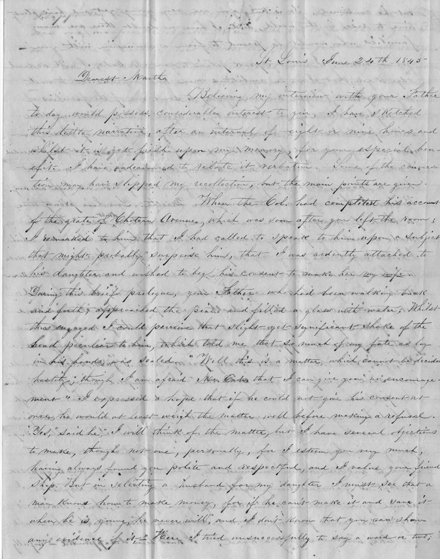 Letter to Martha